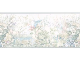 10 1/4 in x 15 ft Prepasted Wallpaper Borders - Garden Wall Paper Border B6235