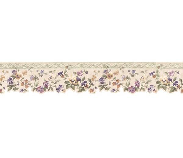 Garden Wallpaper Borders: Floral Wallpaper Border 3575