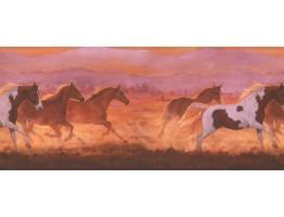 Prepasted Wallpaper Borders - Horses Wall Paper Border 2632 IN