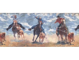 Prepasted Wallpaper Borders - Horses Wall Paper Border 2645 IN