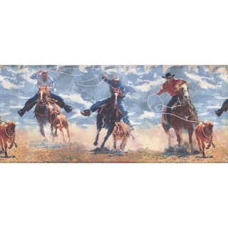 10 1/4 in x 15 ft Prepasted Wallpaper Borders - Horses Wall Paper Border 2645 IN