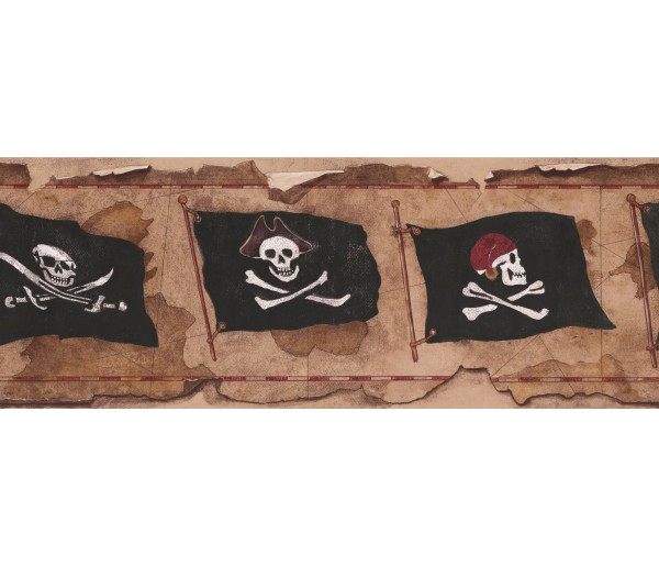 Clearance: Danger Flag Wallpaper Border 2812 BT