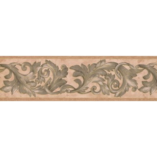 7 in x 15 ft Prepasted Wallpaper Borders - Damask Wall Paper Border 29423