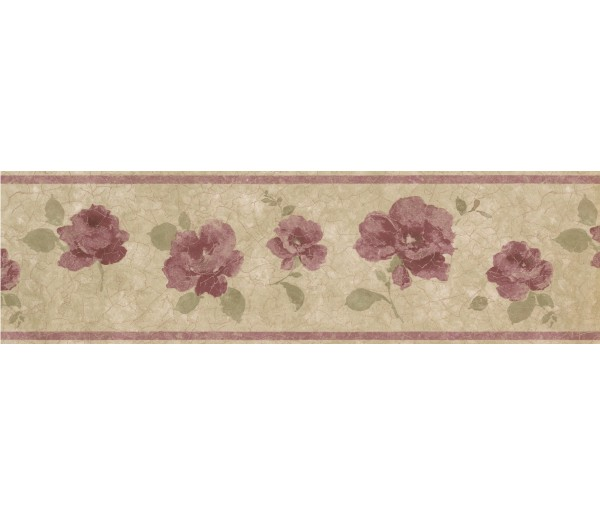 Clearance: Floral Wallpaper Border 29424