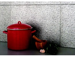 Backsplash Tiles  - Decorative Thermoplastic Tile 18 X 24 Lamina Crosshatch Silver