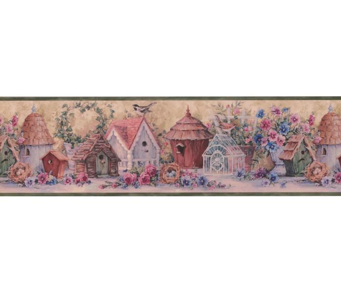 Garden Wallpaper Borders: Floral Wallpaper Border 30102 DW