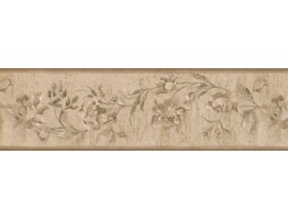 6 3/4 in x 15 ft Prepasted Wallpaper Borders - Floral Wall Paper Border 30129 ZA