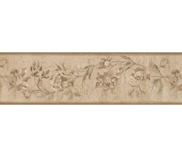 Garden Wallpaper Borders: Floral Wallpaper Border 30129 ZA