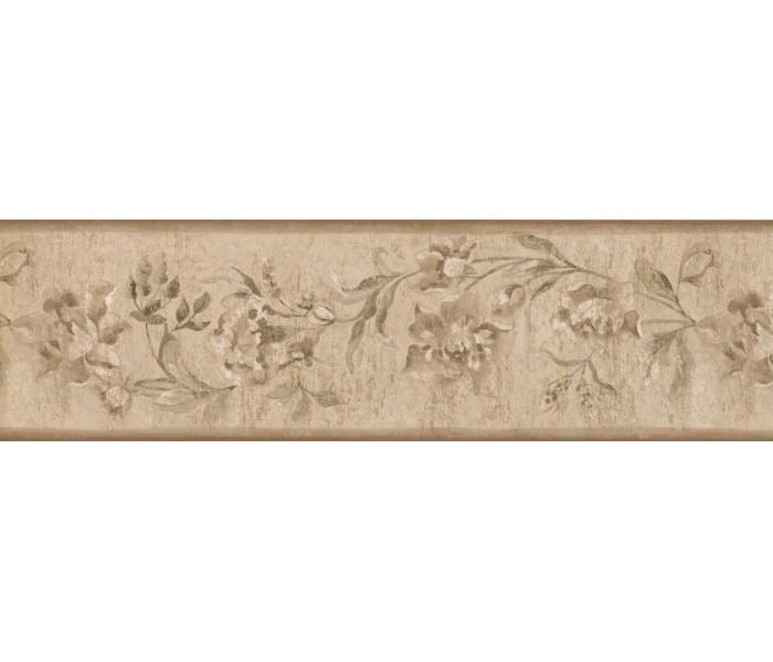 Garden Wallpaper Borders: Floral Wallpaper Border 30129 ZA