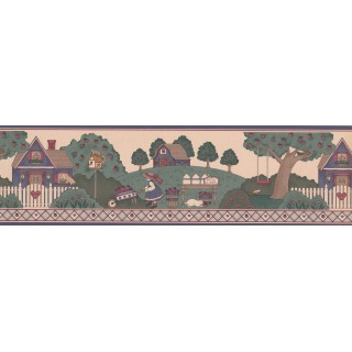 7 in x 15 ft Prepasted Wallpaper Borders - Country Wall Paper Border 3015004