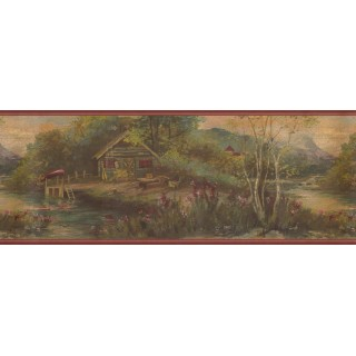 9.625 in x 15 ft Prepasted Wallpaper Borders - Nature Wall Paper Border 30327 GB