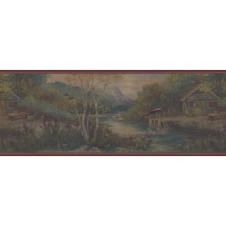 9 in x 15 ft Prepasted Wallpaper Borders - Nature Wall Paper Border 30328 GB