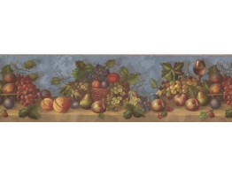 7 in x 15 ft Prepasted Wallpaper Borders - Fruits Wall Paper Border 30503 WP