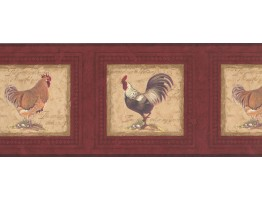 Prepasted Wallpaper Borders - Roosters Wall Paper Border 30706530