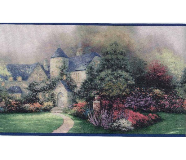 Landscape Thomas Kinkade Wallpaper Border 30882920 York Wallcoverings