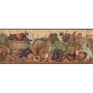 9 in x 15 ft Prepasted Wallpaper Borders - Rabbits Wall Paper Border 30992310