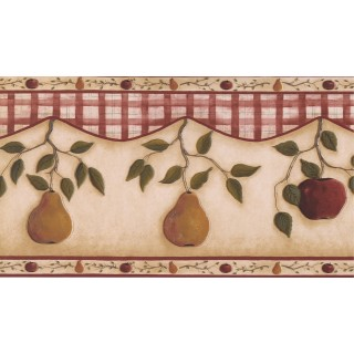 13 1/2 in x 15 ft Prepasted Wallpaper Borders - Fruits Wall Paper Border 31192330