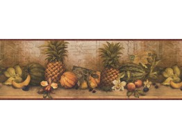 Prepasted Wallpaper Borders - Fruits Wall Paper Border 32142 CW