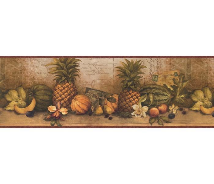 Garden Wallpaper Borders: Fruits Wallpaper Border 32142 CW