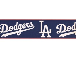 Prepasted Wallpaper Borders - Dodgers Sports Wall Paper Border 3299 ZB