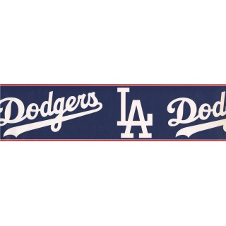 6 in x 15 ft Prepasted Wallpaper Borders - Dodgers Sports Wall Paper Border 3299 ZB