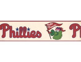 Phillie Phanatic Sports Wallpaper Border 3305 ZB