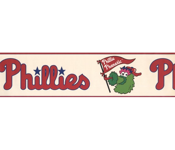 Baseball Wallpaper Borders: Phillie Phanatic Sports Wallpaper Border 3305 ZB