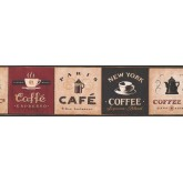 Kitchen Borders Coffee Wallpaper Border 330809 York Wallcoverings