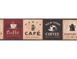 Coffee Wallpaper Border 330809
