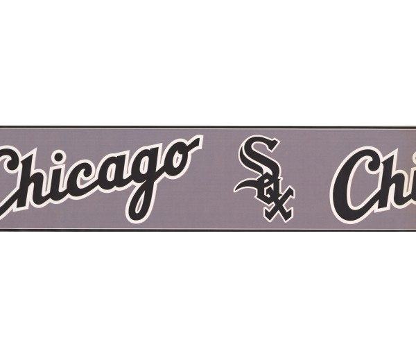Baseball Chicago Sports Wallpaper Border 3314 ZB York Wallcoverings