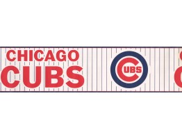 6 in x 15 ft Prepasted Wallpaper Borders - Chicago Cubs Sports Wall Paper Border 3317 ZB