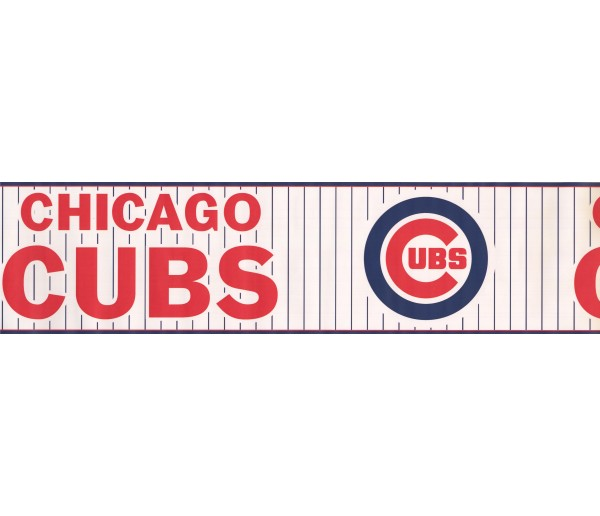 Baseball Wallpaper Borders: Chicago Cubs Sports Wallpaper Border 3317 ZB