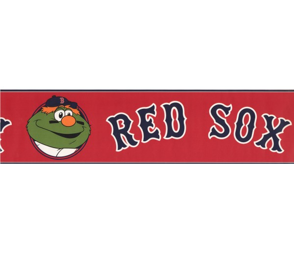 Baseball Wallpaper Borders: Res Sox Sports Wallpaper Border 3320 ZB