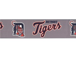 Prepasted Wallpaper Borders - Detroit Tigers Sports Wall Paper Border 3370 ZB