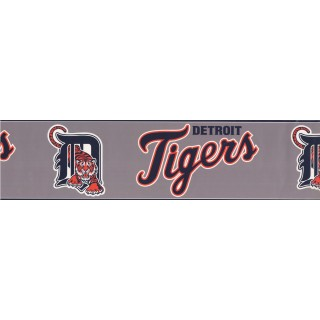 6 in x 15 ft Prepasted Wallpaper Borders - Detroit Tigers Sports Wall Paper Border 3370 ZB