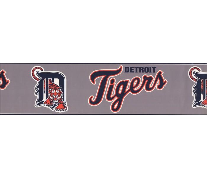 Baseball Wallpaper Borders: Detroit Tigers Sports Wallpaper Border 3370 ZB