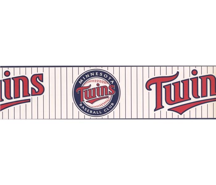 Baseball Wallpaper Borders: Twins Baseball Sports Wallpaper Border 3376 ZB
