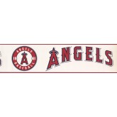 Baseball Wallpaper Borders: Angels Baseball Sports Wallpaper Border 3382 ZB