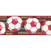 Sports Wallpaper Borders: Balls Wallpaper Border 3736 JE
