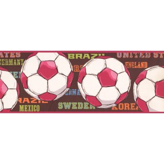 9 in x 15 ft Prepasted Wallpaper Borders - Balls Wall Paper Border 3736 JE