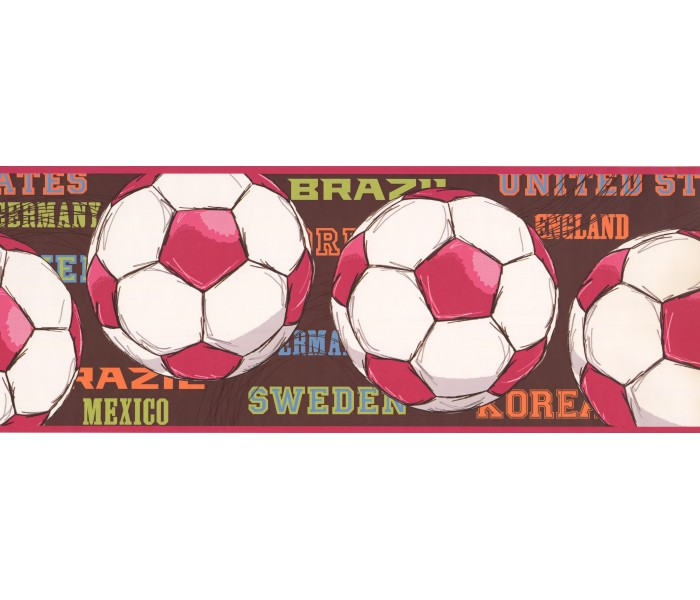 Sports Wallpaper Borders: Balls Wallpaper Border 3736 JE