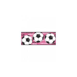 9 in x 15 ft Prepasted Wallpaper Borders - Soccer Wall Paper Border 3737 JE