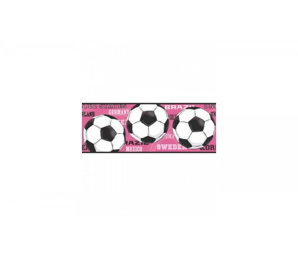 Sports Wallpaper Borders: Soccer Wallpaper Border 3737 JE