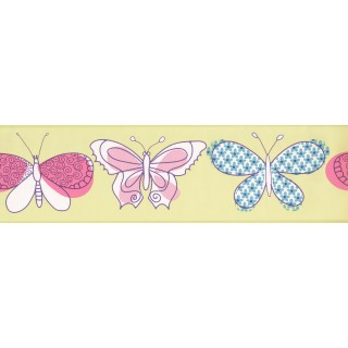 7 in x 15 ft Prepasted Wallpaper Borders - Kids Wall Paper Border 4007 PW
