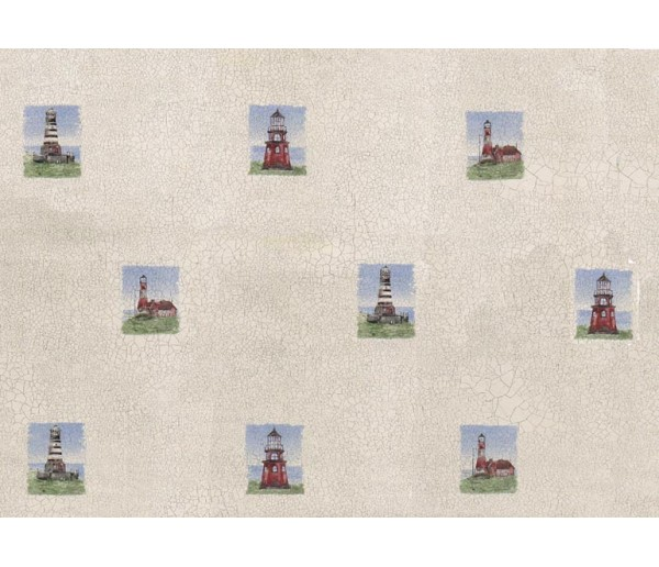 Nautical Light House Wallpaper 40201 S.A.MAXWELL CO.