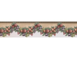 5 in x 15 ft Prepasted Wallpaper Borders - Fruits Wall Paper Border 40946330