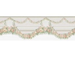 6 3/4 in x 15 ft Prepasted Wallpaper Borders - Floral Wall Paper Border FDB60948