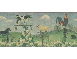 Prepasted Wallpaper Borders - Country Wall Paper Border HA61082B