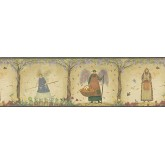 Prepasted Wallpaper Borders - Angel Wall Paper Border HA61143B