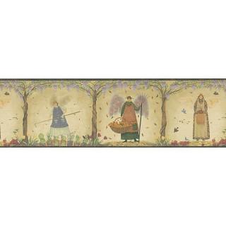 6 7/8 in x 15 ft Prepasted Wallpaper Borders - Angel Wall Paper Border HA61143B